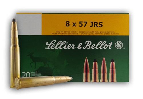 Sellier and Bellot 8X57jrs 196 Spce 20Rd/Box