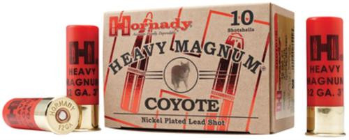 Hornady Heavy Magnum Coyote Loads 12 Gauge 3 Inch 1300 FPS 1.5 Ounces BB 10 Per Box
