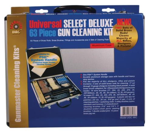 DAC Technologies GunMaster Universal Select 63 Piece Deluxe Cleaning Kit Aluminum Case