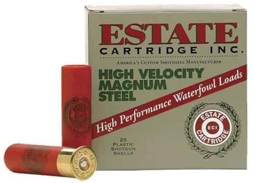 Estate High Velocity Magnum Steel 12 Ga, 4 Steel, 1-3/8, 25rd Box