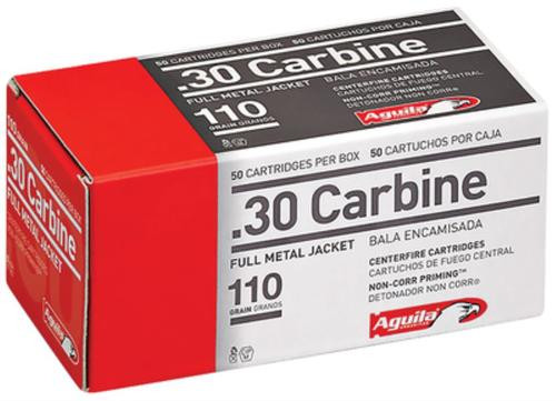 Aguila 30 Carbine 110gr, Full Metal Jacket 50rd Box