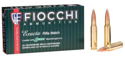 Fiocchi Exacta Match .308 Winchester 175gr, Hollow Point Boattail Matchking 20rd Box