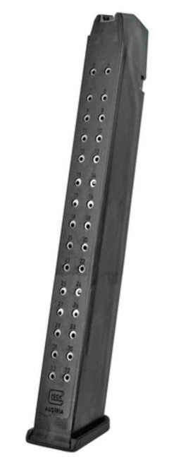 Glock G17/34 Magazine 9mm, Polymer Black, 33rd