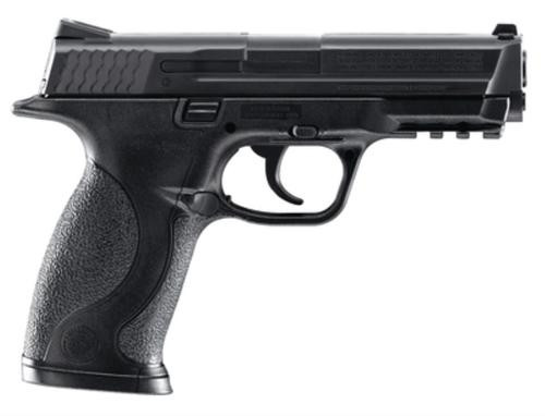 """Umarex Smith & Wesson M&P BB Air Pistol .177 BB, 4.25"""" Smooth Barrel, All Black 19 Shot Drop Out Bb Magazine"""