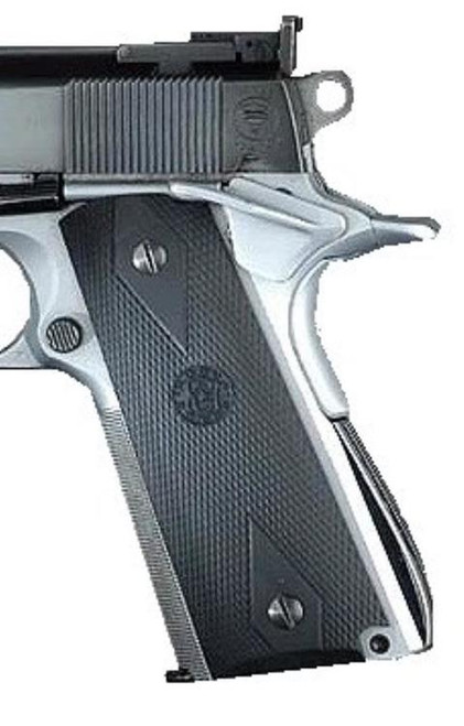 Hogue 1911 Goverment Rubber Grip Panels Checkered, Diamonds Black