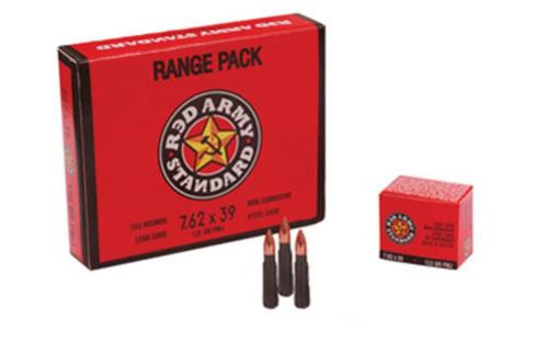 Century Red Army 7.62x39mm 122gr, FMJ, Steel Case, 20rd Box