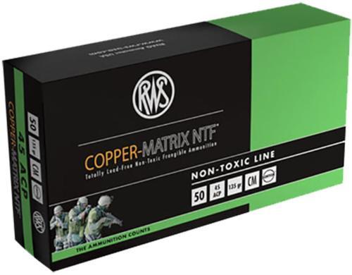 Ruag Ammotec 204540050 Copper Matrix 45 ACP 145GR Non Toxic/Frangible 50rds