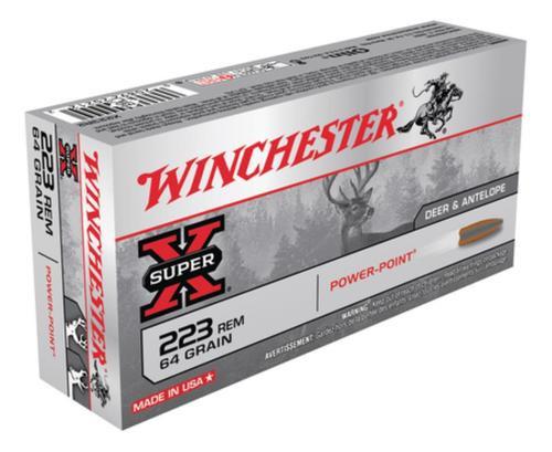 Winchester Super-X .223 Rem 64gr, Power Point 20rd Box