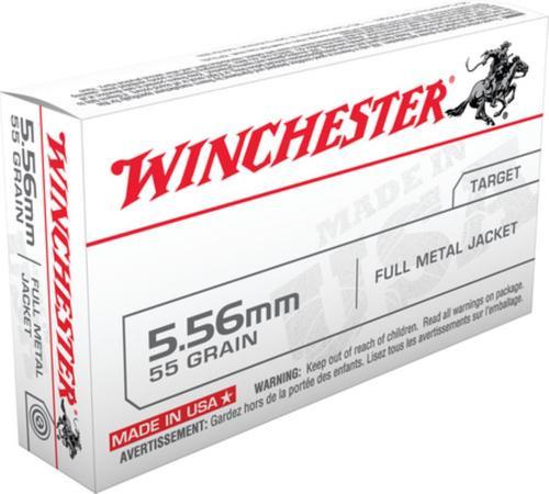 Winchester 5.56mm NATO 55gr, FMJ, 20rd Box
