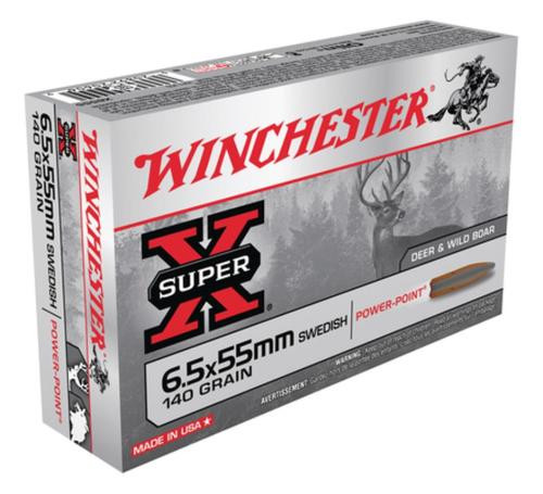 Winchester Super X 6.5mmX55mm Soft Point 140gr, 20Box/10Case