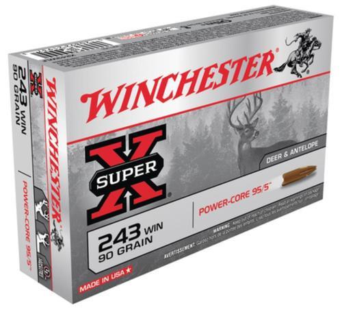 Winchester Super-X Power Core .243 Winchester 90gr Power Core 95-5