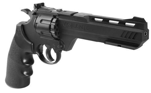 Crosman Vigilante Air Pistol Revolver/Repeater .177 & BBs Black