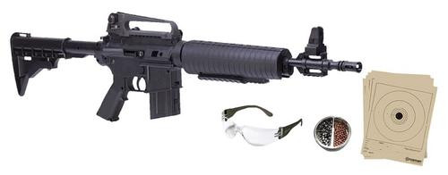Crosman M4 .177 BB Pump Rifle Kit, Black 350 BB/5 Pellet Capacity