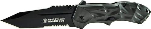 Smith & Wesson Knives Black Ops Black Tanto Partially Serrated