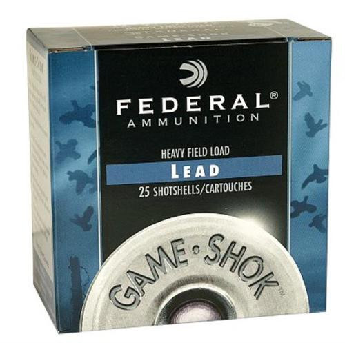 "Federal Game-Shok Heavy Field 12 Ga, 2.75"", 1-1/8oz, 6 Shot, 25rd/Box"