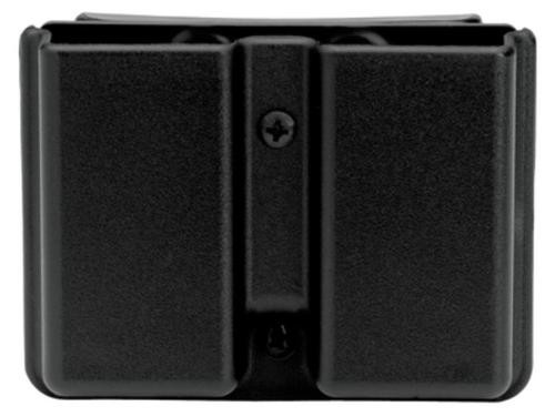 """Uncle Mike's Double Mag Case, 1911 Type Single Stack Mags, Belt Loops up to 1.75"""", Black Kydex"""