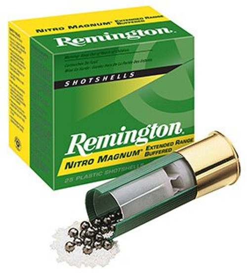 Remington Nitro Mag Loads 12 ga, 3 1-5/8oz, 4 Shot, 25rd/Box