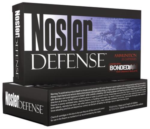 Nosler Defense Bonded 6.8mm SPC 90gr, Bonded Solid 20rd Box