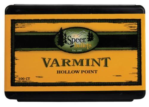 Speer Rifle Bullets Varmint 22 Caliber .224 70 Gr, Semi-Spitzer, Soft Point, 100/Box