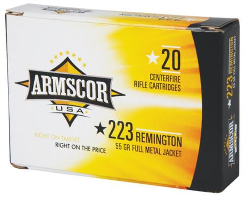 Armscor .223 Remington, 55 Gr, FMJ, 20rd Box