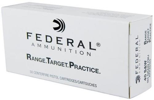 Federal RTP .40 S&W, 165 Gr, FMJ, 1000rd/Case
