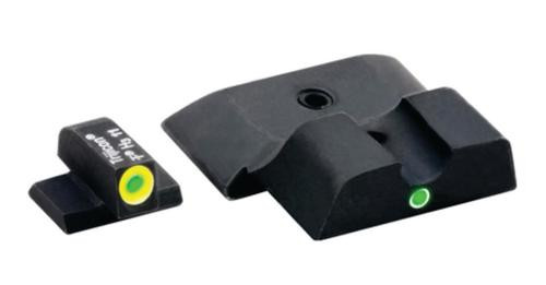Ameriglo Pro i-dot Set For S&W M&P Front ProGlo Green Tritium With Lime Outline Single Dot Greenrded Notch Rear Sight