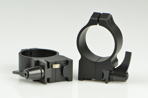 Warne Ruger 30mm Ruger, QD, High Matte Rings, Fits #1, Mini 14-30, Grooved Receiver