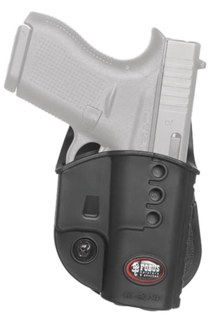 Fobus Paddle Holster, Fits Glock 43, Right Hand, Black