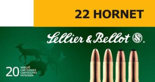 Sellier and Bellot 22 Hornet 45 FMJ 20Rd/Box