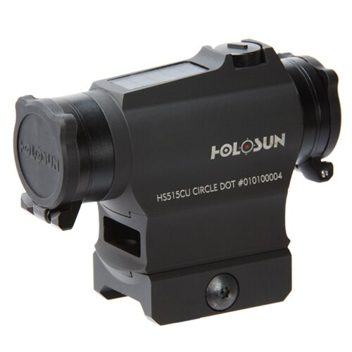 Holosun 65 MOA Circle Dot & Solar, Flip Caps and Kill Flash High AR-15 Mount