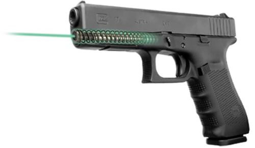 LaserMax Guide Rod Green Laser For Glock 17/22/31/37 (Gen 1-3) Black Fin