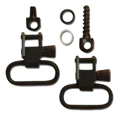"Grovtec Mossberg 500 Forend Band Mount Swivel Set 1"" Black Steel"
