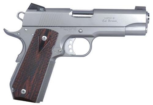"Ed Brown Executive Carry SOA 45 ACP 4"" Barrel Laminate Grip 7 Rd Mag"