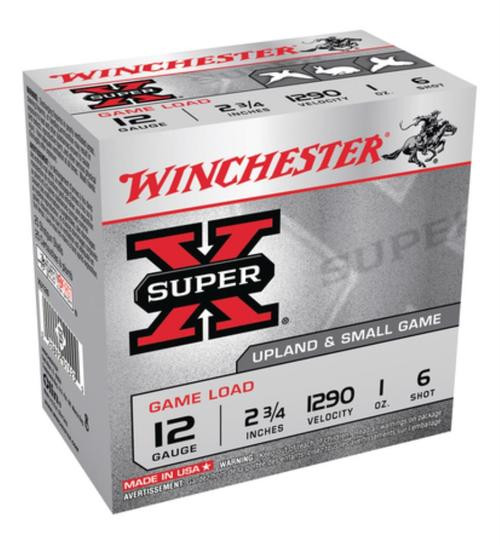 "Winchester Super-X Game 12 Ga, 2.75"", 1 oz, 6 Shot, 25rd/Box"