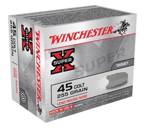 Winchester Super X 45 Colt Lead Round Nose 255gr, 20 Rd Box