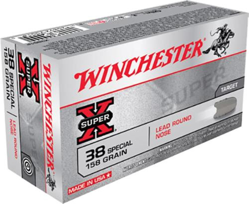 Winchester Super-X .38 Special 158 Gr, Lead Round Nose, 50rd Box