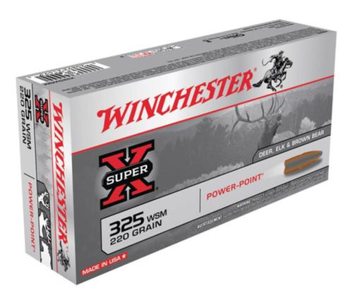Winchester Super-X .325 Winchester Short Magnum, 220gr, Power-Point, 20rd Box