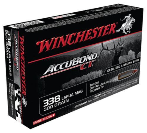 Winchester Accubond CT .338 Lapua Mag 300gr, 20rd Box
