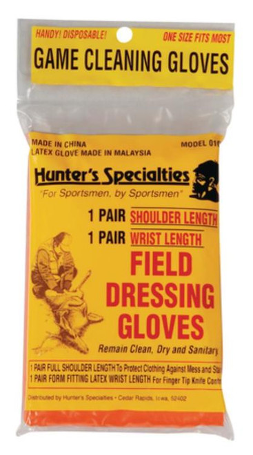 Hunter's Specialties Field Dressing Gloves 2 Pair