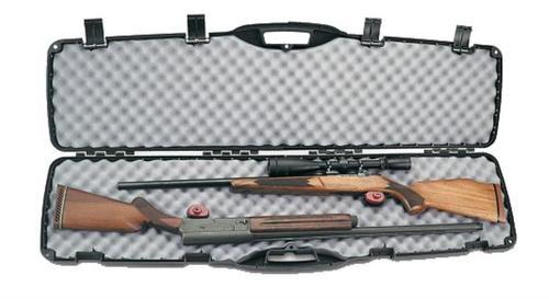 Plano 150201 Double Rifle/Shotgun Case Polymer Contoured