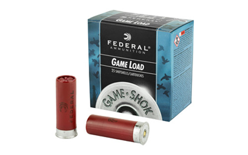 "Federal Game-Shok Game Load 12 GA, 2.75"", 1oz, 6 Shot, 25rd/Box"