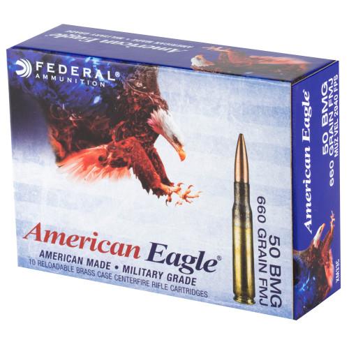 Federal American Eagle XM33 .50 BMG, 660gr, FMJ, 10rd Box