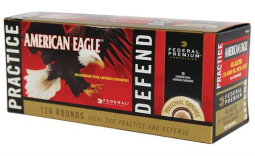 Federal Personal Defense Combo Pack Hydra-Shok/American Eagle 45 ACP 230 Grain 120 Rounds Total