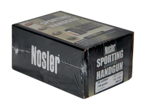 Nosler Sporting Handgun Revolver JHP 38 Caliber .357 158gr, 250 Per Box