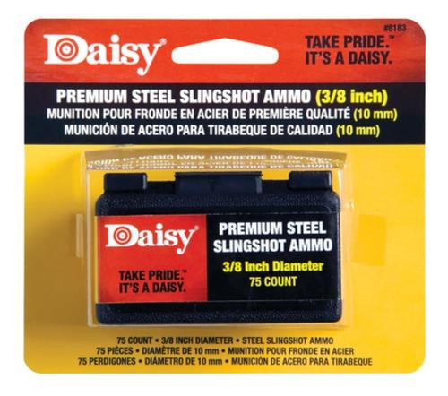 Daisy Steel Slingshot Ammunition .375 Inch 75 Per Pack