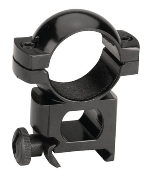 "Traditions Black Powder 1"" Aluminum Scope Ring Quick Peep Gloss Black"