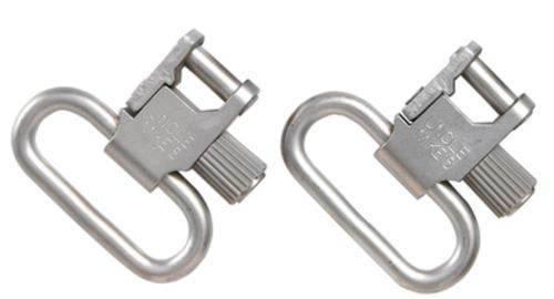 """Uncle Mike's 1"""" Quick Detach 115 Nickel Sling Swivels"""