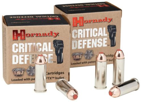 Hornady Critical Defense .44 Special 165gr, Flex Tip Expanding Nickel Case Hollow Point 20rd Box