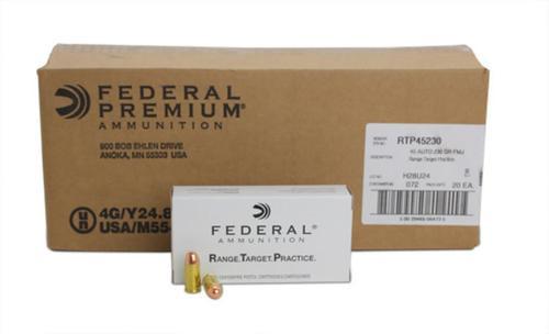 Federal 45 ACP 230Gr. RTP Range Target Practice, 1000rd/Case