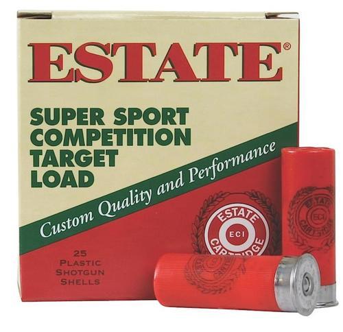 "Estate Super Sport Target 12 Ga, 2 3/4"", 1-1/8oz, 8 Shot, 25rd/Box"